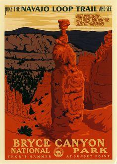 postcard - Bryce Canyon National Park poster, via Flickr.