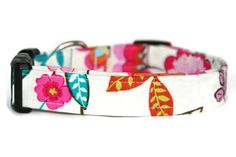 Fresh Floral Dog Collar by ALeashACollar on Etsy Handmade Dog Collars, Handmade Gifts, Fresh, Personalized Items, Trending Outfits, Unique Jewelry, Dogs, Floral, Accessories