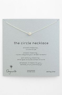 Dogeared 'Reminder - The Circle' Boxed Pendant Necklace | Nordstrom