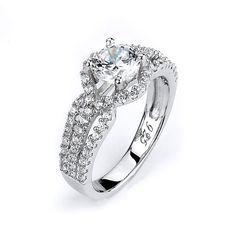 Triple Shank Halo CZ Engagement Ring - 1 Carat – CZ Sparkle Jewelry®