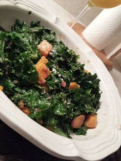 """Kale and Butternut Squash Salad! """"""""  @allthecooks #recipe #salad #kale #healthy #side #easy"""