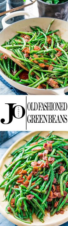 These old fashioned green beans only require a handful of ingredients, easy to make and requires very little time. Simple ingredients but lots flavor!