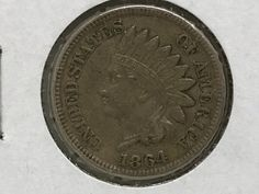 1864 BRONZE INDIAN HEAD CENT PENNY VERY GOOD COIN CIRCULATED GRADE GOOD