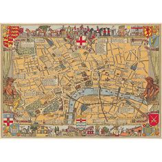 Cavallini London Map Wrapping Paper Paper-Source.com