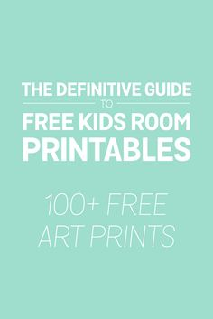 A massive collections of kids printable art!