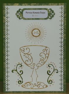 Komunia 2015 Embroidery Cards, Embroidery Stitches, Diy And Crafts, Arts And Crafts, Holy Rosary, Pin Art, Card Patterns, String Art, Needlework