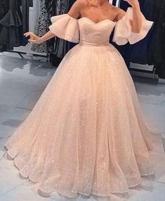 Elegant Off the Shoulder Sweetheart Charming Long Prom Dresses Ball Gown by PrettyLady, $182.13 USD