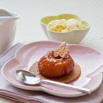Douceur aux 2 pommes… Pomme fruit confite sur sablé à la Pomme de terre