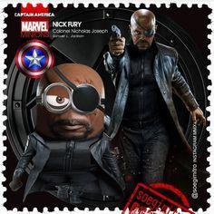 Marvel Captain America Minion - Nick Fury