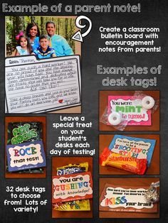 Ease testing anxiety! Great ideas for encouraging students to do their best on the test!