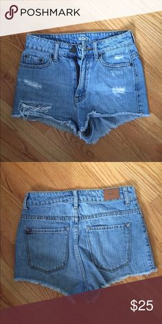Urban BDG High Waisted Jean Shorts Perfect condition jean shorts from urban, they are high waisted and super cute! Urban Outfitters Shorts Jean Shorts