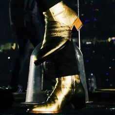 harry styles gold boots