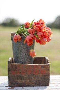 orange red tulips ~ photographer: Lauren Larsen // planner: Gibson Events //  florist: Poppy Lane