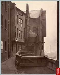 St Mary Overy's Dock, Southwark, This photograph was commissioned by the Society for Photographing Relics of Old London to form part o. London Pictures, London Photos, Old Pictures, Old Photos, Vintage Photos, Victorian London, Vintage London, Old London, London City
