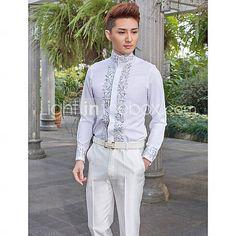Mønstre - Langt Ærme - Skjorte ( Hvit , Bomull/Polyester ) Kinesisk Stil 2778717 2016 – kr.302