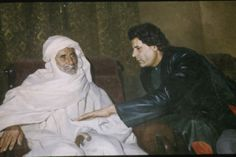 September 3, 1994 / Libyan leader Muammar Gaddafi with his father