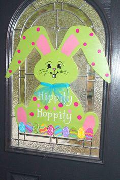 Easter Bunny Door Hanger by MelanieEllisDesigns on Etsy, $40.00