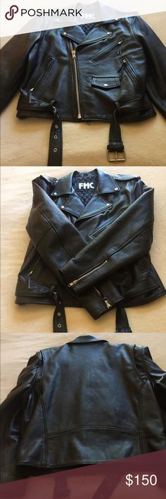 FMC Vintage Motorcycle Jacket Men's FMC leather motorcycle jacket size 42. Vintage and in perfect condition. Asking $150 or best offer. FMC Jackets & Coats Performance Jackets