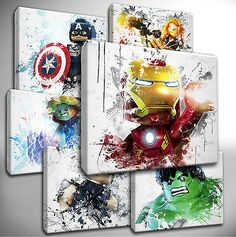 Choose your LEGO AVENGERS Canvas Art Pictures - kids bedroom in Art, Canvas/ Giclee Prints | eBay