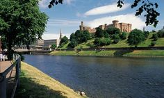"""""""Inverness Castle overlooks the City"""" things to do and see in Inverness Beautiful Places To Visit, Places To See, Nairn Scotland, Inverness Castle, The Loch, Ireland Travel, Things To Do, Gutter Cleaning, City"""