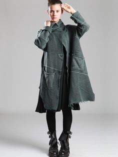 PLUSH COAT WITH UNEVEN DYE - JACKETS, JUMPSUITS, DRESSES, TROUSERS, SKIRTS, JERSEY, KNITWEAR, ACCESORIES - Woman -