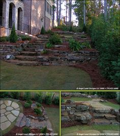 Consider this approach for a creative idea! Home Landscaping Ideas Landscaping On A Hill, Country Landscaping, Landscaping With Rocks, Outdoor Landscaping, Outdoor Gardens, Landscaping Ideas, Side Gardens, Backyard Ideas, Garden Ideas