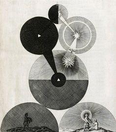 'Philosophia Moysaica' (1638) by English cosmologist & astronomer Robert Fludd (1574-1637). via King Creative