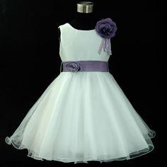 PU668 Purples Wedding Bridesmaid Flower Girls Party Dress 1-2-3-4-5-6-7-8-10-12Y | eBay