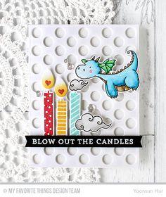 Magical Dragons Stamp Set and Die-namics, Make a Wish Stamp Set and Die-namics, Peek-a-Boo Polka Dots Die-namics, Blueprints 30 Die-namics - Yoonsun Hur #mftstamps