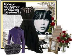 """Black Dress"" by los-mundos-de-caroline on Polyvore"