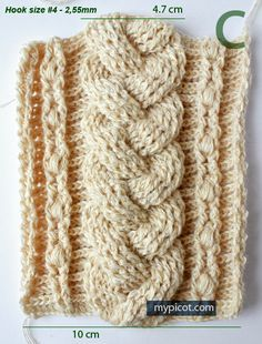 CROCHET cable. Very pretty. It looks almost like a knitted cable. Free pattern with lots of pictures in the instructions.