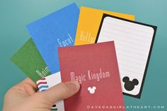 I saw this and had to repin! Perfect for our vacation last thanksgiving and creating a memory book!  A Vegas Girl at Heart: Disney Freebies #projectlife