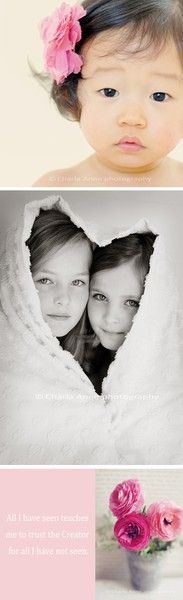 ***Great idea (heart towel) for sibling photos.