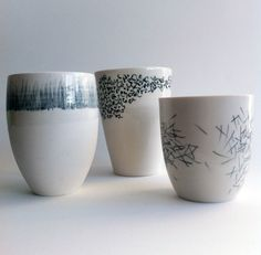 Gallery and shop for Tom Kemp's ceramic art: from large, hand-painted vases, to fine porcelain tableware Glazes For Pottery, Pottery Mugs, Ceramic Pottery, Glazed Pottery, Ceramic Studio, Ceramic Clay, Ceramic Bowls, Porcelain Pens, Porcelain Ceramics