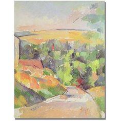 Trademark Fine Art Bend in the Road Canvas Art by Paul Cezanne, Size: 24 x 32, Multicolor