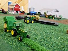 Toy Trucks, Fire Trucks, Rc Tractors, Farm Village, Farm Images, Chevy Diesel Trucks, Train Room, Toy Display, Farm Toys