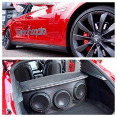 Who would cruise this Tesla loaded with ‪ ‪ ‪ subwoofers? Photo courtesy of Road and Beyond. Custom Car Audio, Custom Cars, My Dream Car, Dream Cars, Car Audio Installation, Inside Car, Car Sounds, Rockford Fosgate, Car Interiors