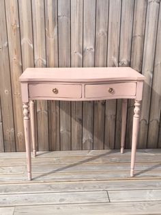 Vintage small dressing table painted in Miss Mustard Seed's Milk Paint in Arabesque, and dark waxed.