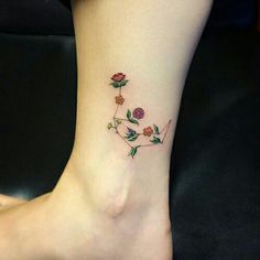 Simple floral tattoo