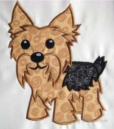 Yorkie Applique 4x4, 5x7, 6x10 (HS) -- Own It