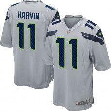 Men's Seattle Seahawks Percy Harvin Nike Gray Alternate Limited Jersey