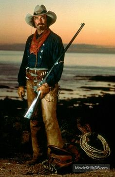 "Tom stars as Quigley in the 1990 western movie ""Quigley Down Under""."