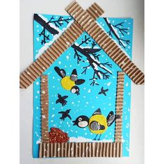 Animal Crafts For Kids, Winter Crafts For Kids, Winter Kids, Spring Crafts, Art For Kids, Classroom Art Projects, Art Classroom, Kindergarten Art, Preschool Crafts