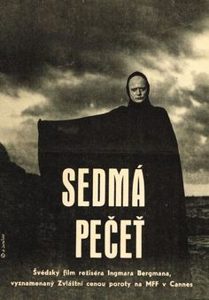THE SEVENTH SEAL, Amazing Original Czech Poster, INGMAR BERGMAN, MAX VON SYDOW.