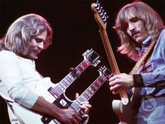 Don Felder & Joe Walsh. I loved hearing them playing hotel California together.