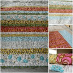 small lap quilt , housewarming gift , colours pulled from her decor House Warming, It Is Finished, Colours, Quilts, Blanket, Design, Home Decor, Homemade Home Decor, Comforters