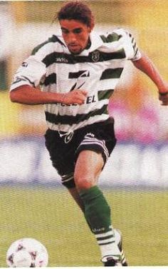Mustapha Hadji, Marrocan Interntaional playing for SCP in 1998 Personal Qualities, Best Club, Scp, Football Soccer, Baseball Cards, Sports, Sorting, African, Classic