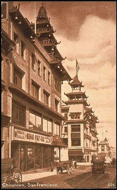 San Francisco Chinatown Postcard circa 1920 by ChinatownCharlie