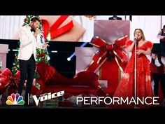 "Kelly Clarkson and Brett Eldredge Perform ""Under the Mistletoe"" - The Voice Live Top 9 Results 2020 - YouTube Country Christmas Music, Brett Eldredge, Under The Mistletoe, Kelly Clarkson, The Voice, Singing, Romantic, Songs, Live"
