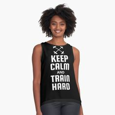 Fitness Design, Train Hard, Keep Calm, Contrast, Tank Tops, Printed, Awesome, People, Women